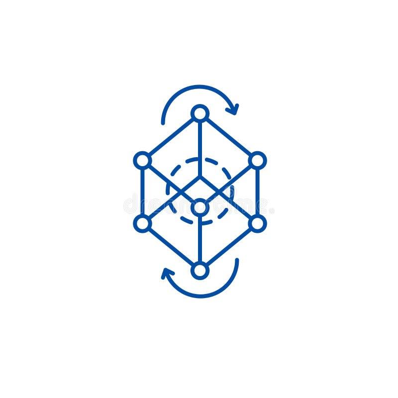 Línea concepto del pivote del modelo comercial del icono Símbolo plano del vector del pivote del modelo comercial, muestra, ejemp libre illustration