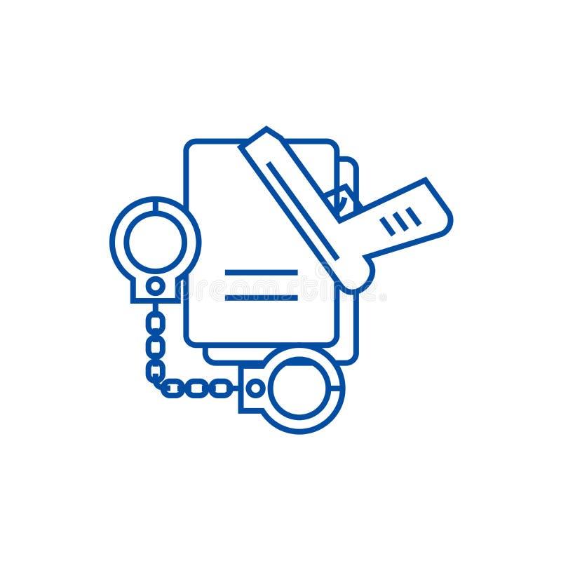 Línea criminal concepto del icono Símbolo plano criminal del vector, muestra, ejemplo del esquema libre illustration