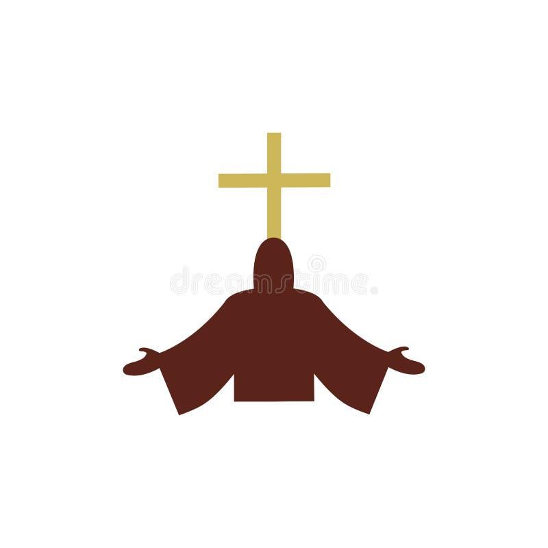 línea cristiana diseño del logotipo del arte, símbolos cristianos de la iglesia libre illustration