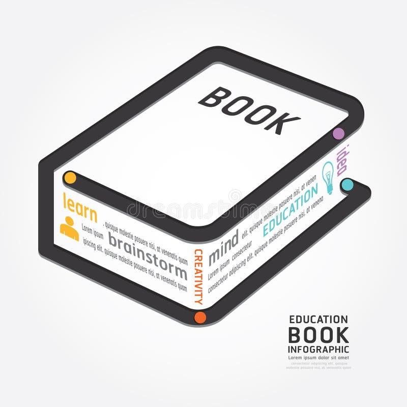 Línea cronología del diagrama del diseño del libro del vector de Infographics del estilo stock de ilustración