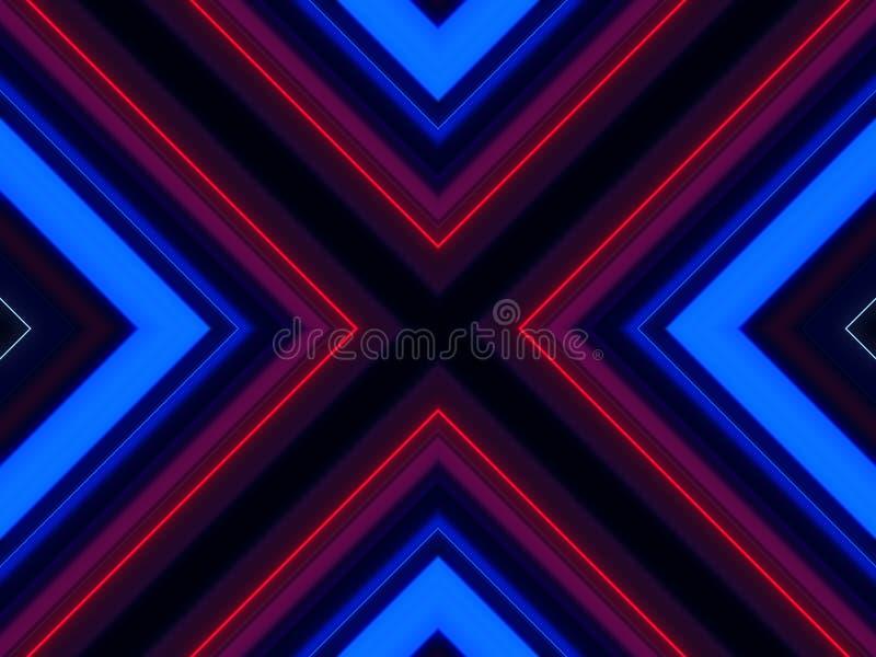 Línea cruzada abstracta fondo colorido del laser libre illustration