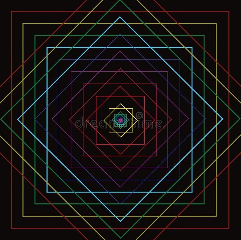 Download Línea Cuadrada Colorida Movimiento Stock de ilustración - Ilustración de ilustración, verde: 64203203
