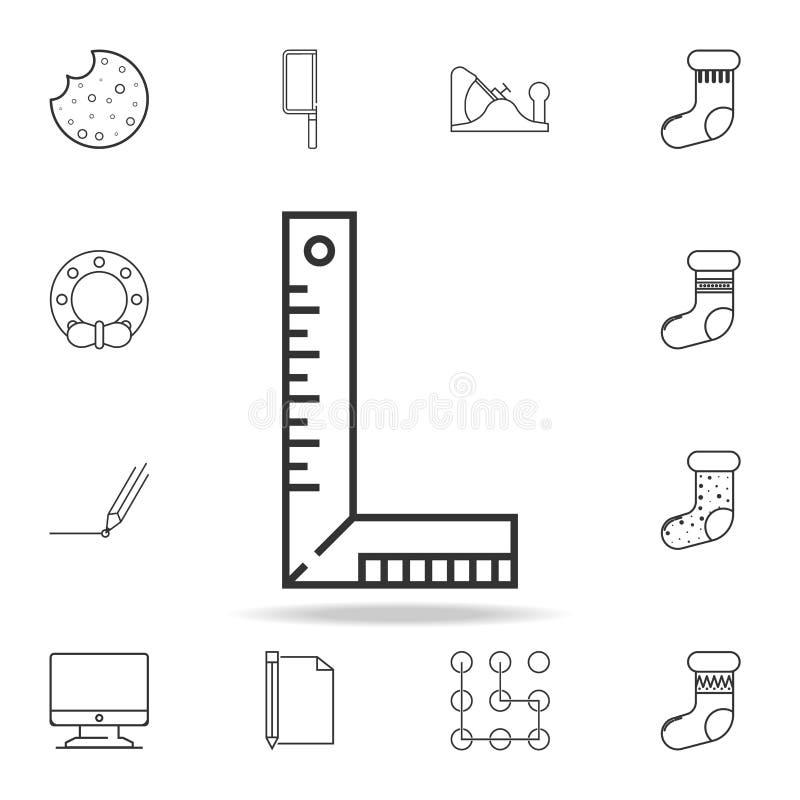 Línea cuadrada icono del grado Sistema detallado de iconos y de muestras del web Diseño gráfico superior Uno de los iconos de la  stock de ilustración