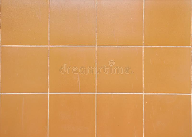 Línea cuadrada modelo de las tejas anaranjadas imágenes de archivo libres de regalías