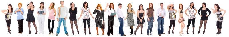 línea de 20 personas imagen de archivo
