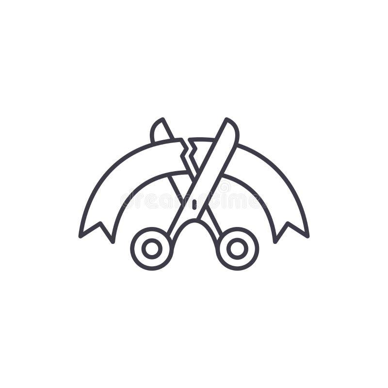 Línea de abertura concepto del icono Ejemplo linear de apertura del vector, símbolo, muestra ilustración del vector