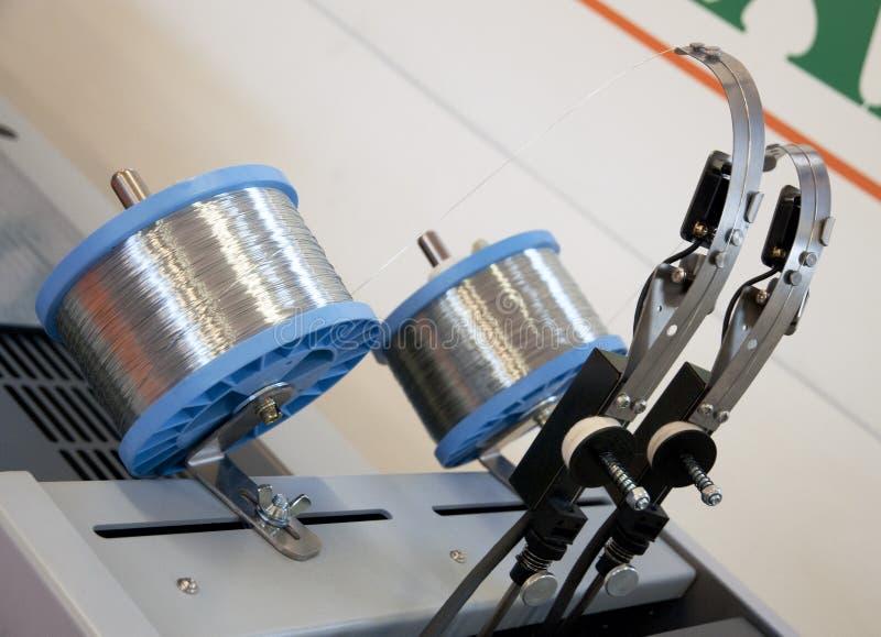 Línea de acabamiento de la impresión equipo foto de archivo libre de regalías