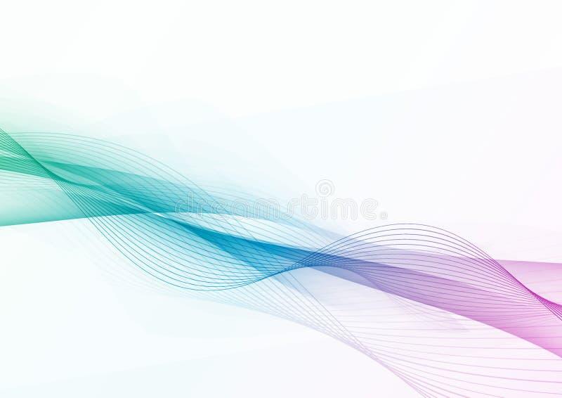 Línea de alta tecnología moderna futurista disposición de la onda stock de ilustración
