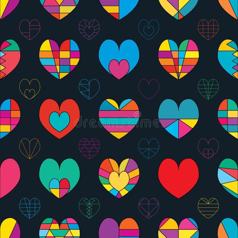 Línea de amor modelo inconsútil de la simetría del color libre illustration