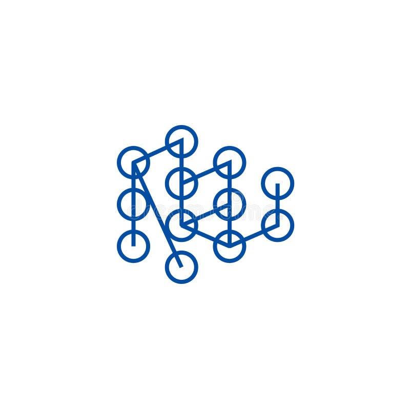 Línea de aprendizaje profunda concepto del concepto del icono Símbolo plano de aprendizaje profundo del vector del concepto, mues ilustración del vector