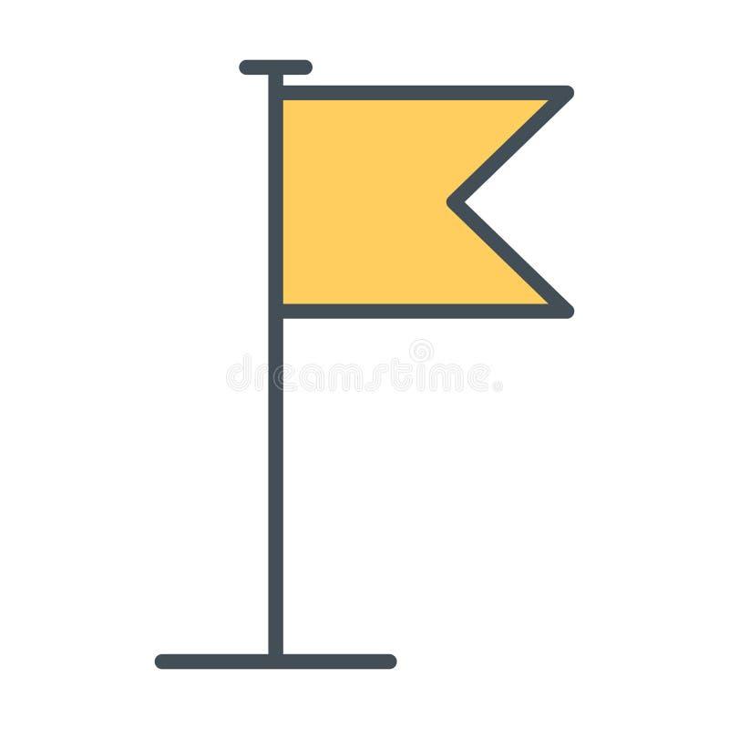 Línea de bandera icono Ilustración del vector stock de ilustración