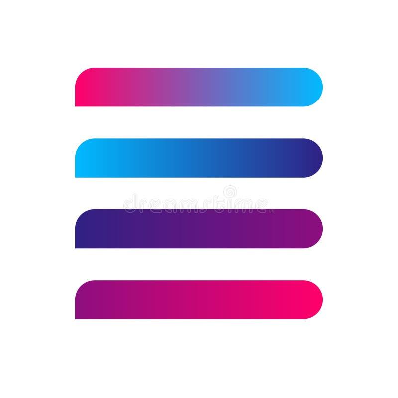 Línea de bandera raya de elemento moderno del diseño del botón de la pendiente colorida para la tarjeta de visita de la bandera d libre illustration