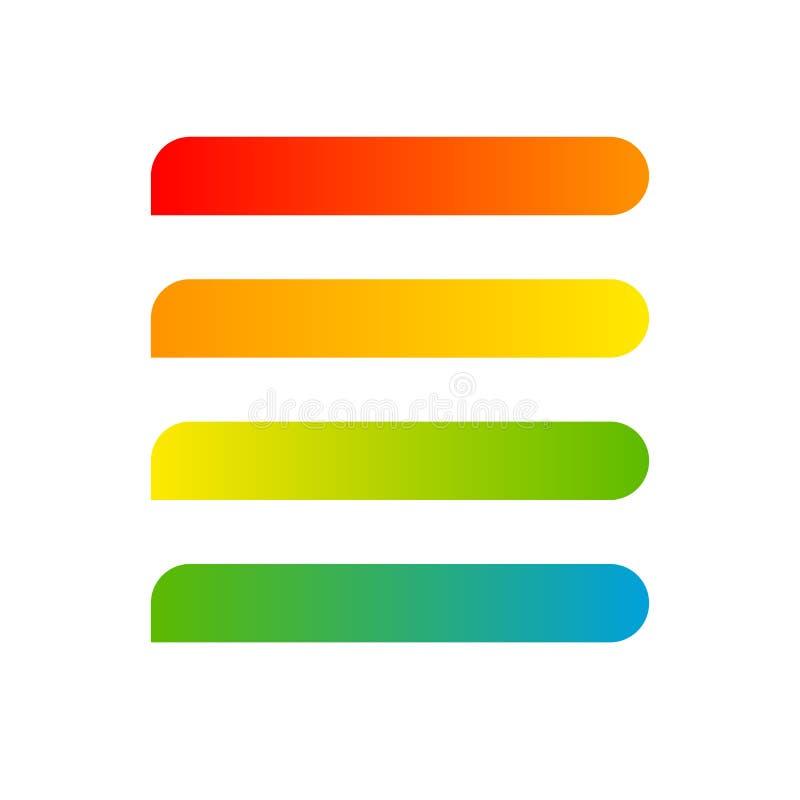 Línea de bandera raya de elemento moderno del diseño de la etiqueta de la pendiente colorida para la tarjeta de visita de la band ilustración del vector