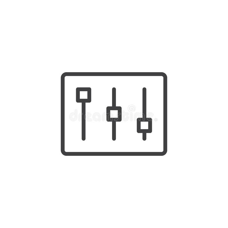 Línea de barra de los ajustes icono stock de ilustración