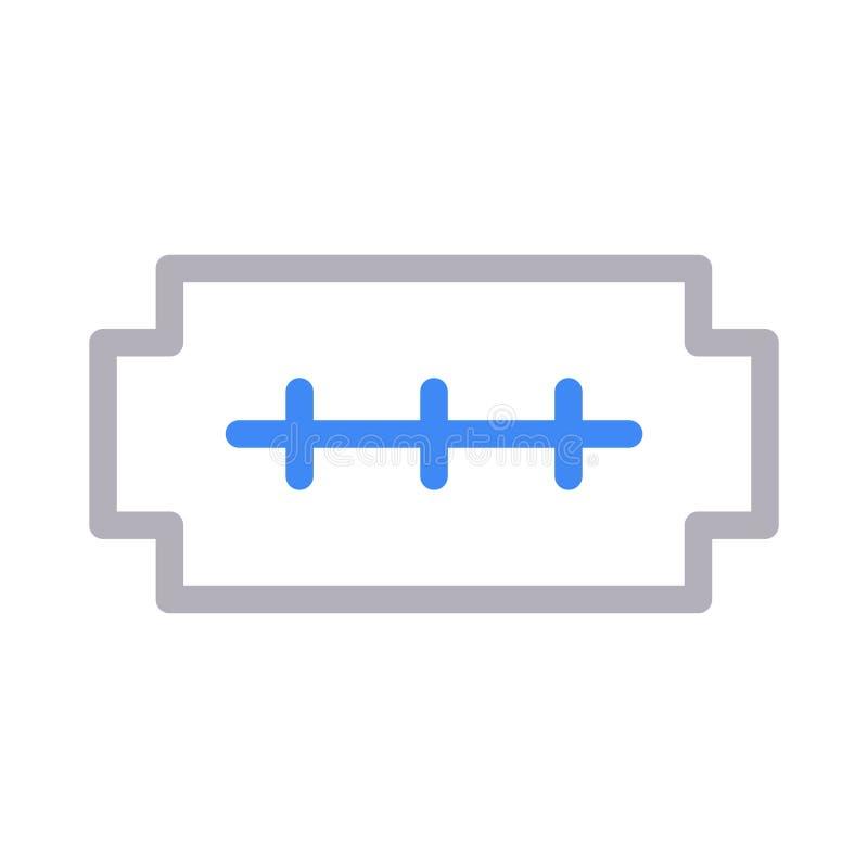 Línea de color del afeitado icono del vector stock de ilustración