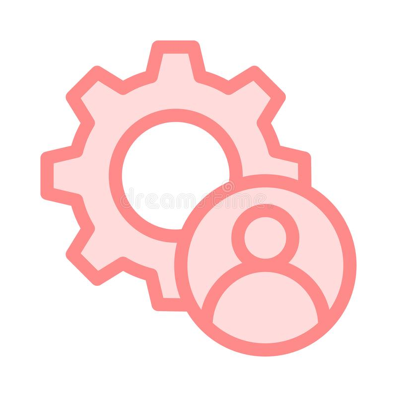 Línea de color del ajuste de la cuenta icono ilustración del vector
