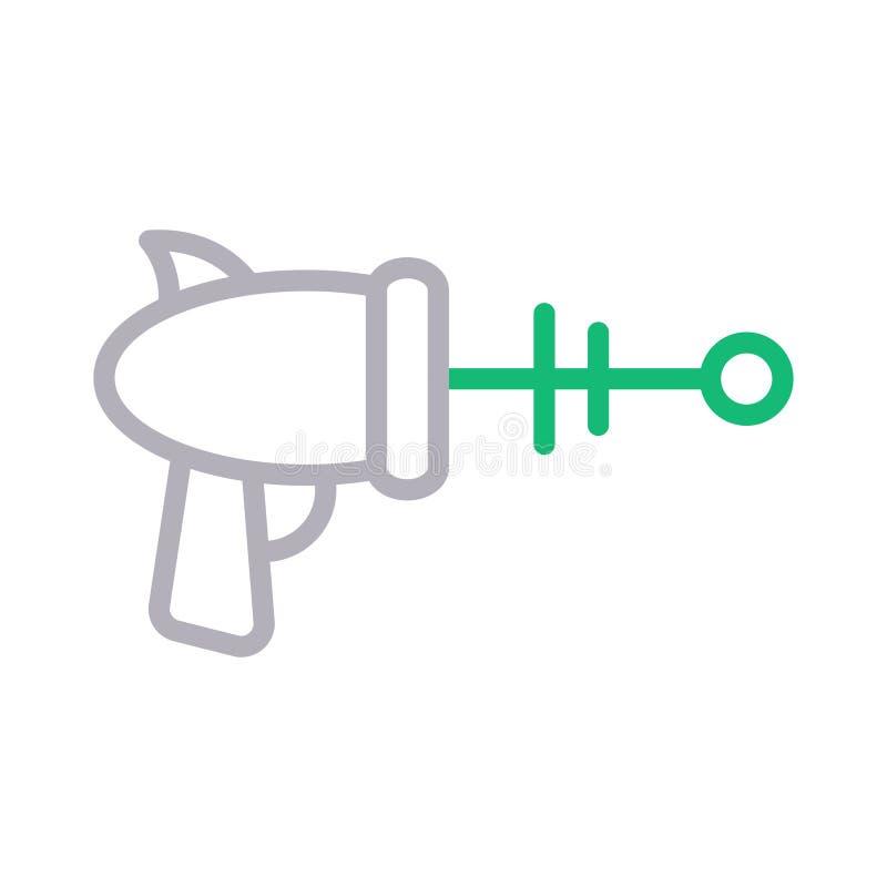 Línea de color del arenador icono ilustración del vector