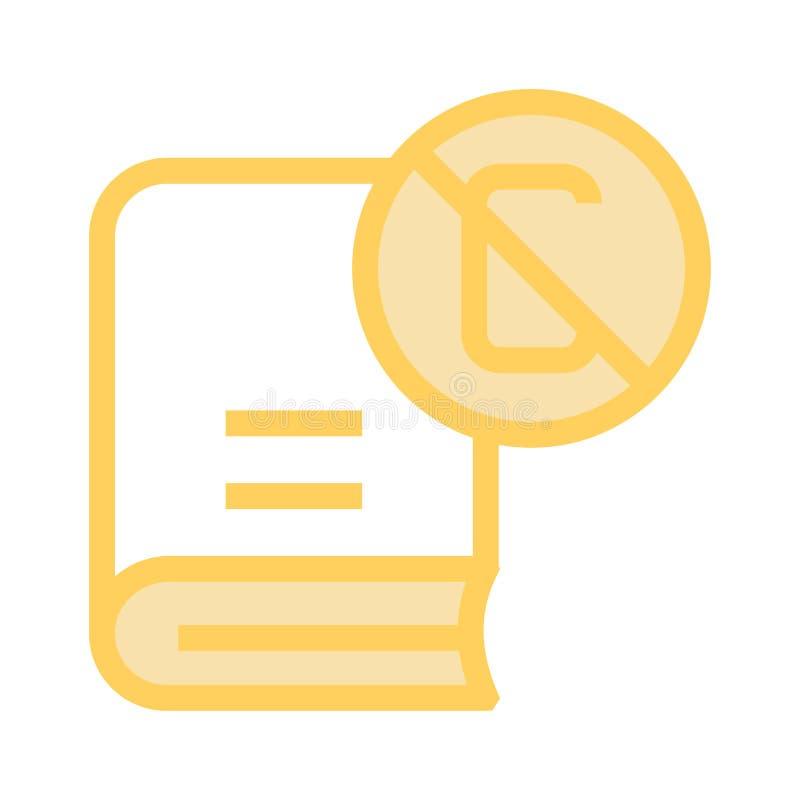 Línea de color del bloque del contenido del libro icono libre illustration