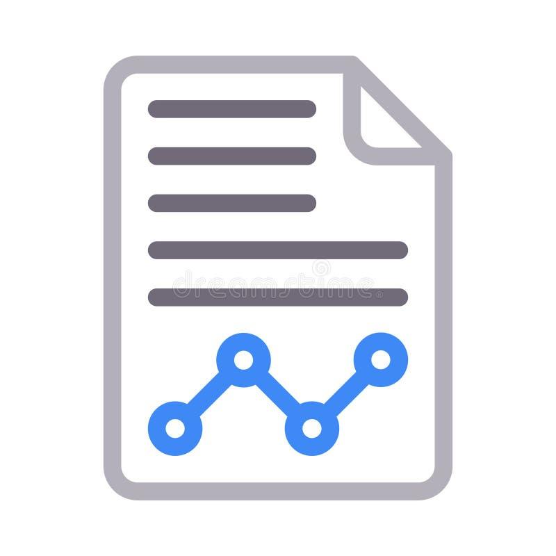 Línea de color fina del informe analítico icono del vector stock de ilustración