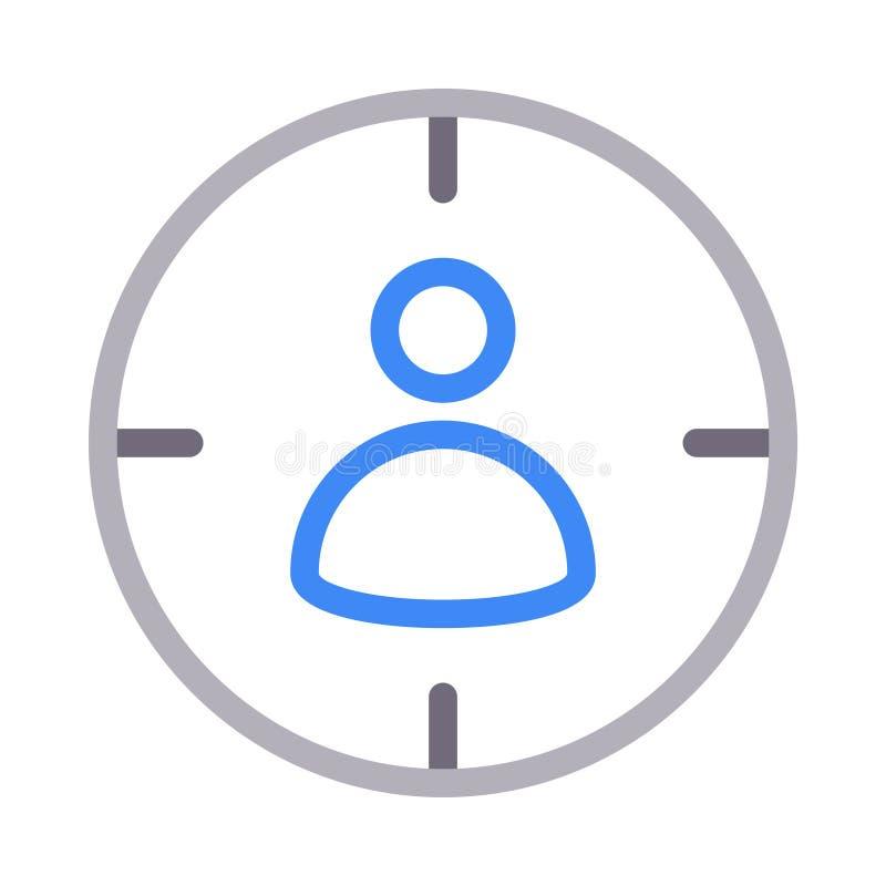 Línea de color fina de la audiencia icono del vector stock de ilustración