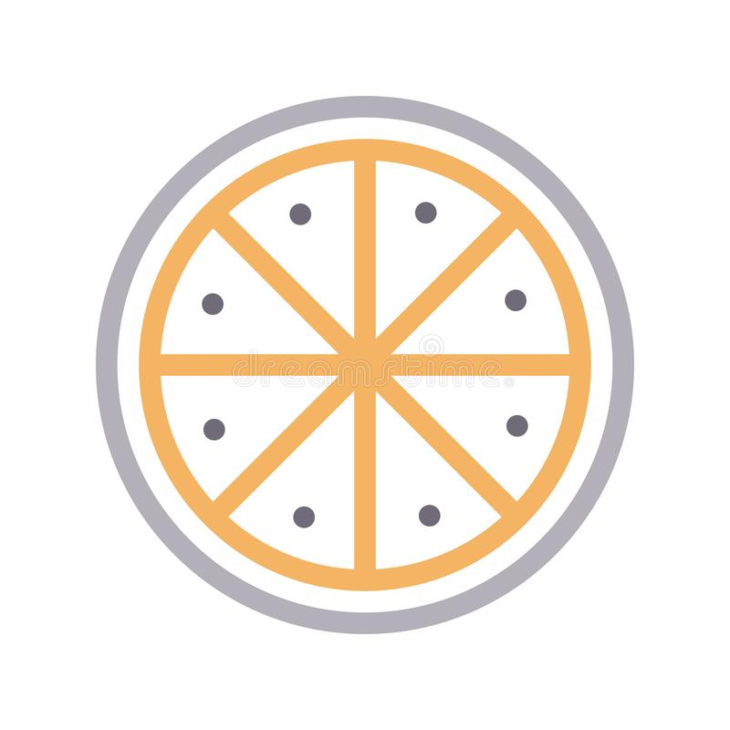 Línea de color fina de la cal icono del vector libre illustration