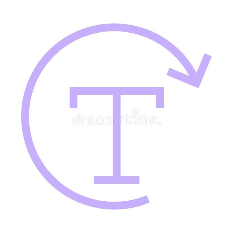 Línea de color de la recarga de la fuente icono ilustración del vector