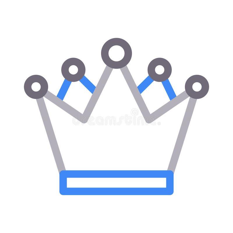 Línea de color de la reina icono del vector stock de ilustración