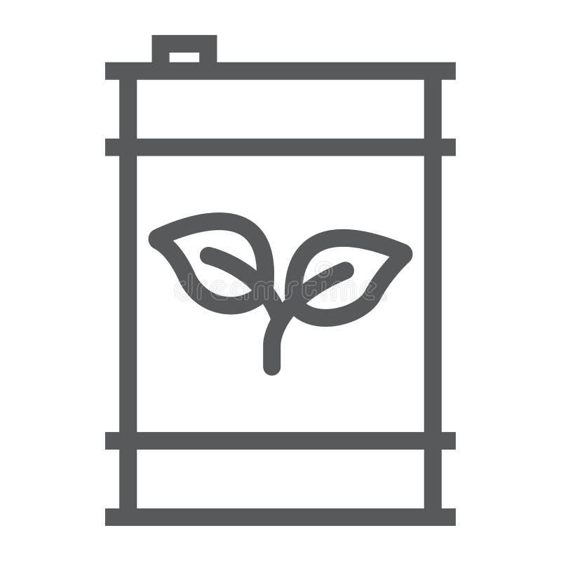 Línea de combustible de Eco icono, ecología y energía, gas verde ilustración del vector