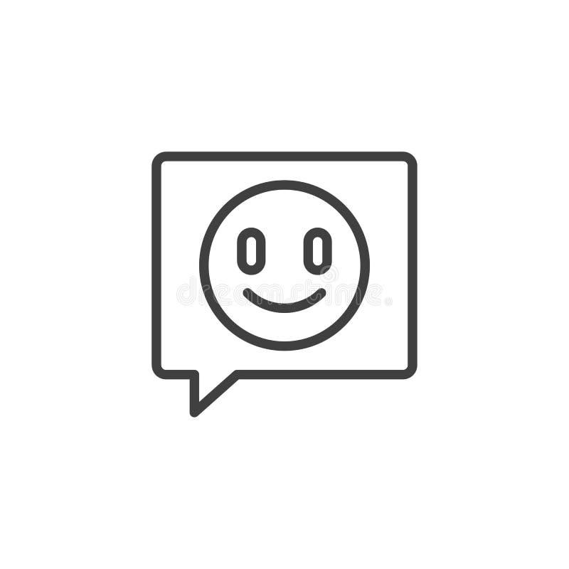 Línea de comentario de la retroalimentación positiva icono libre illustration