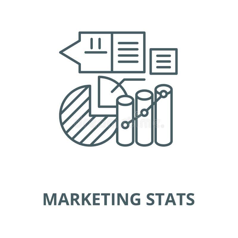 Línea de comercialización icono, concepto linear, muestra del esquema, símbolo del vector del stats libre illustration