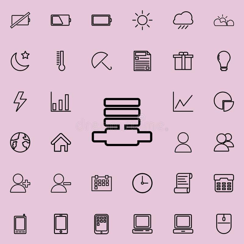 Línea de comunicación icono Sistema detallado de iconos minimalistic Diseño gráfico superior Uno de los iconos de la colección pa stock de ilustración