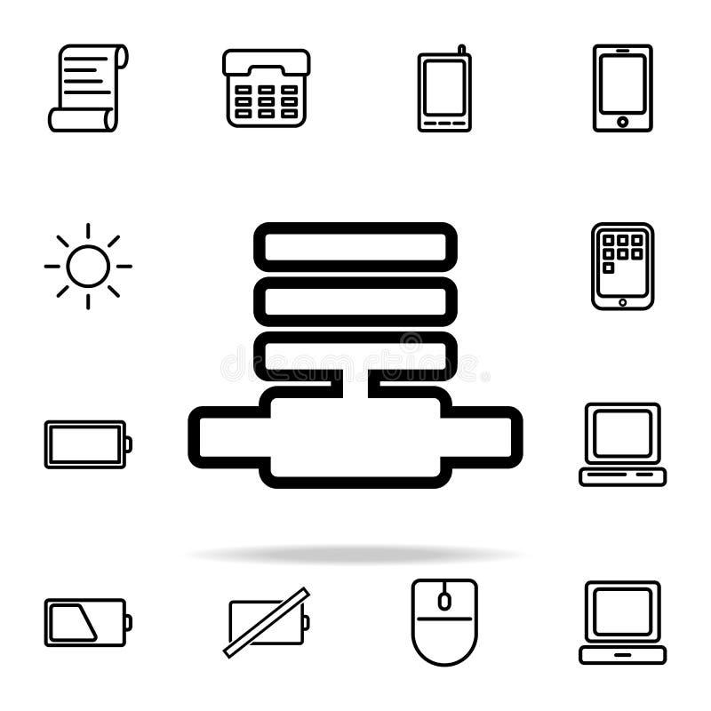 Línea de comunicación icono sistema universal de los iconos del web para el web y el móvil stock de ilustración