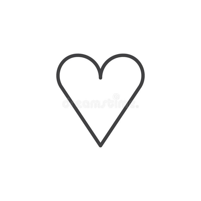 Línea de corazón del amor icono ilustración del vector