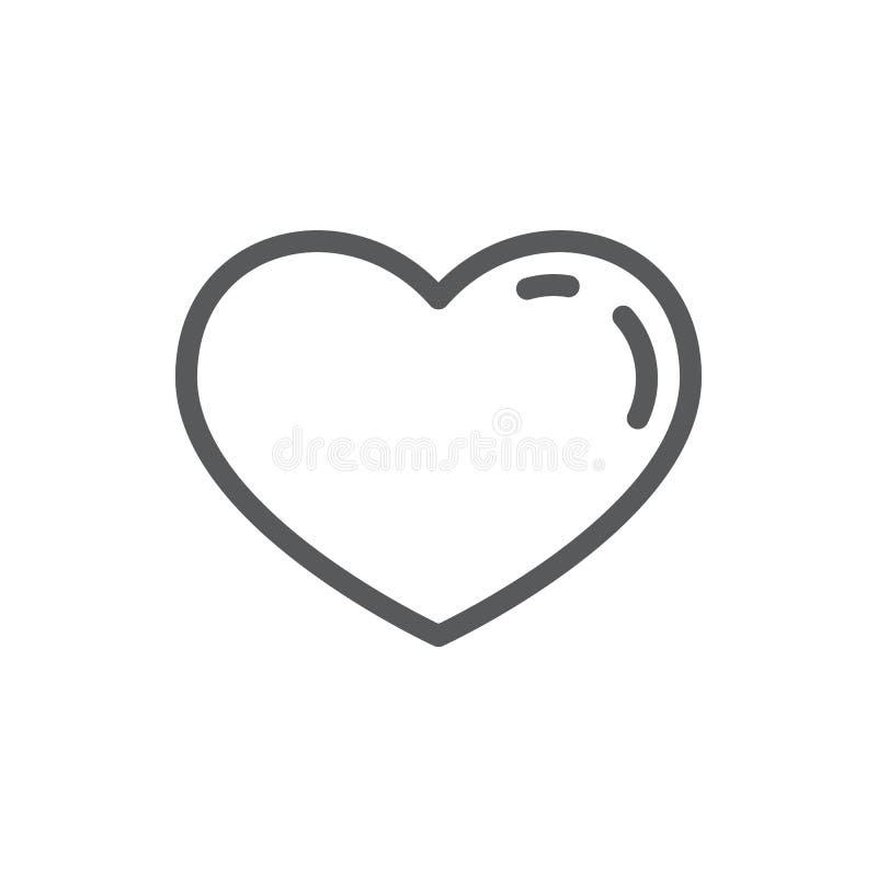 Línea de corazón icono con el movimiento editable - símbolo romántico del esquema de forma hermosa del corazón libre illustration