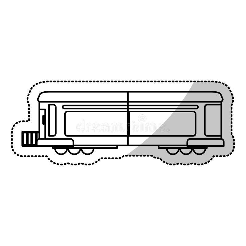 línea de corte locomotora del cargo del transporte del tren stock de ilustración
