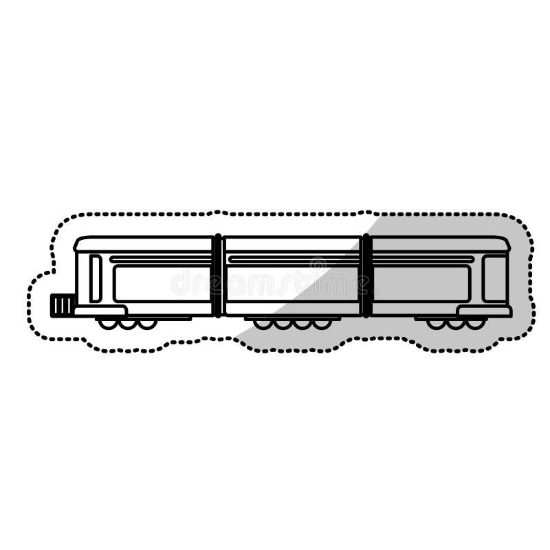 línea de corte locomotora del pasajero del transporte del tren ilustración del vector