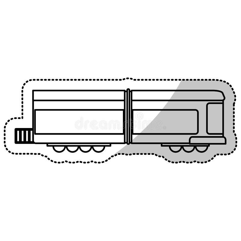 línea de corte locomotora del transporte del tren libre illustration