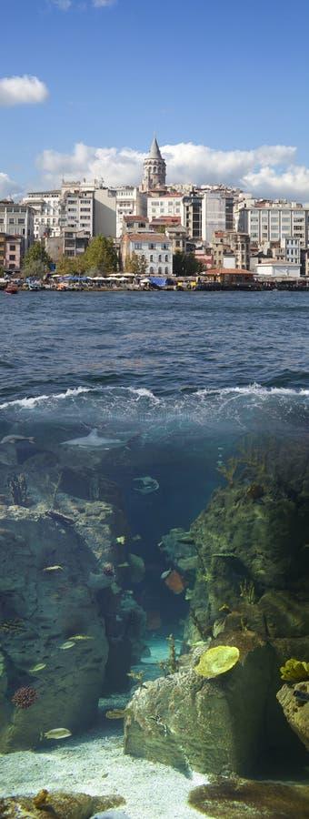 Línea de costa de Estambul fotografía de archivo