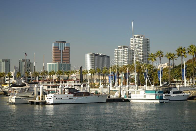 Línea de costa de Long Beach, California foto de archivo libre de regalías