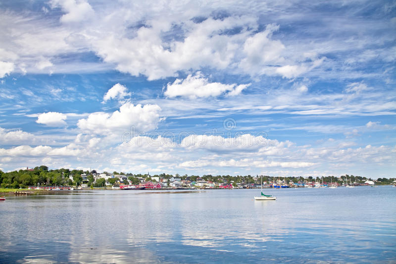Línea de costa de Lunenburg fotos de archivo libres de regalías