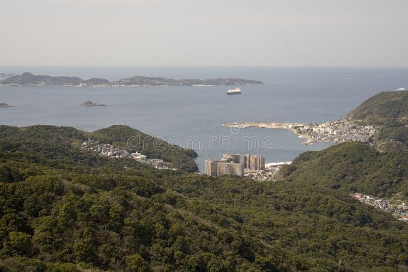 Línea de costa de Nagasaki imagen de archivo libre de regalías