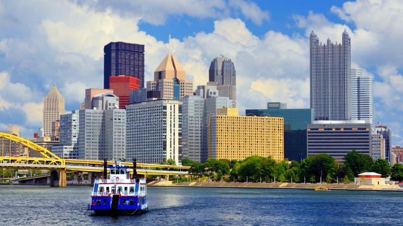 Línea de costa de Pittsburgh fotos de archivo