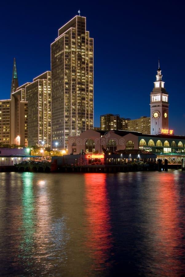 Línea de costa de San Francisco - noche fotografía de archivo
