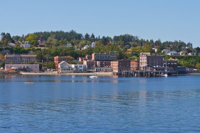 Línea de costa en Townsend portuario, Washington imagen de archivo libre de regalías