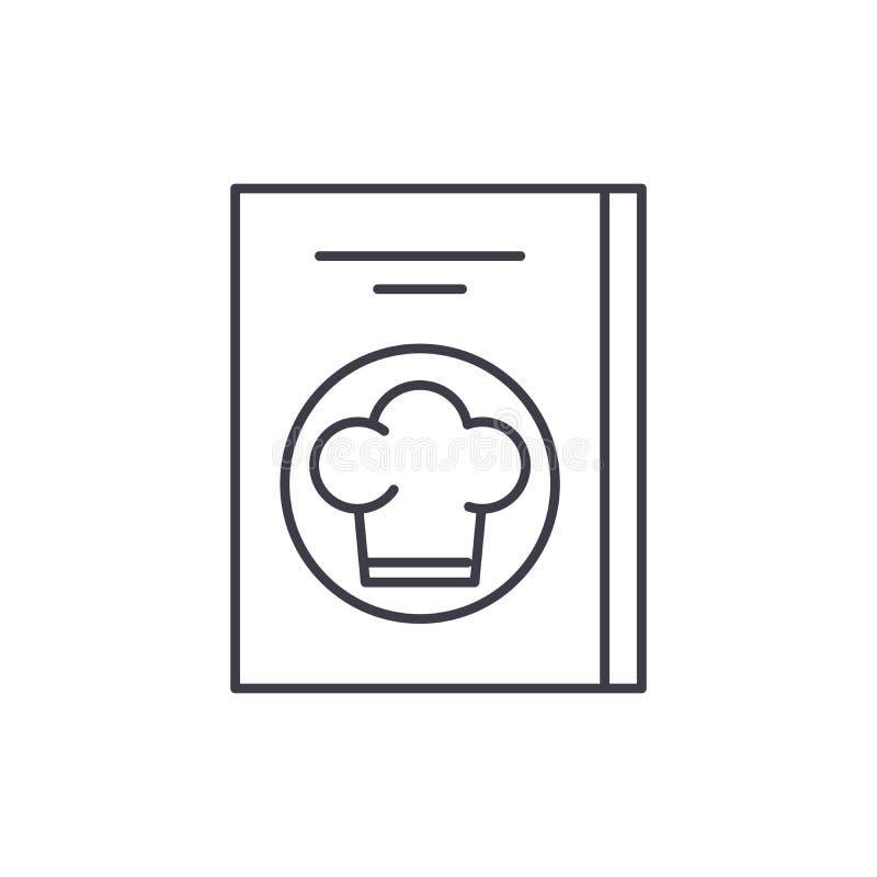 Línea de cuenta del restaurante concepto del icono Ejemplo linear del vector de la cuenta del restaurante, símbolo, muestra ilustración del vector