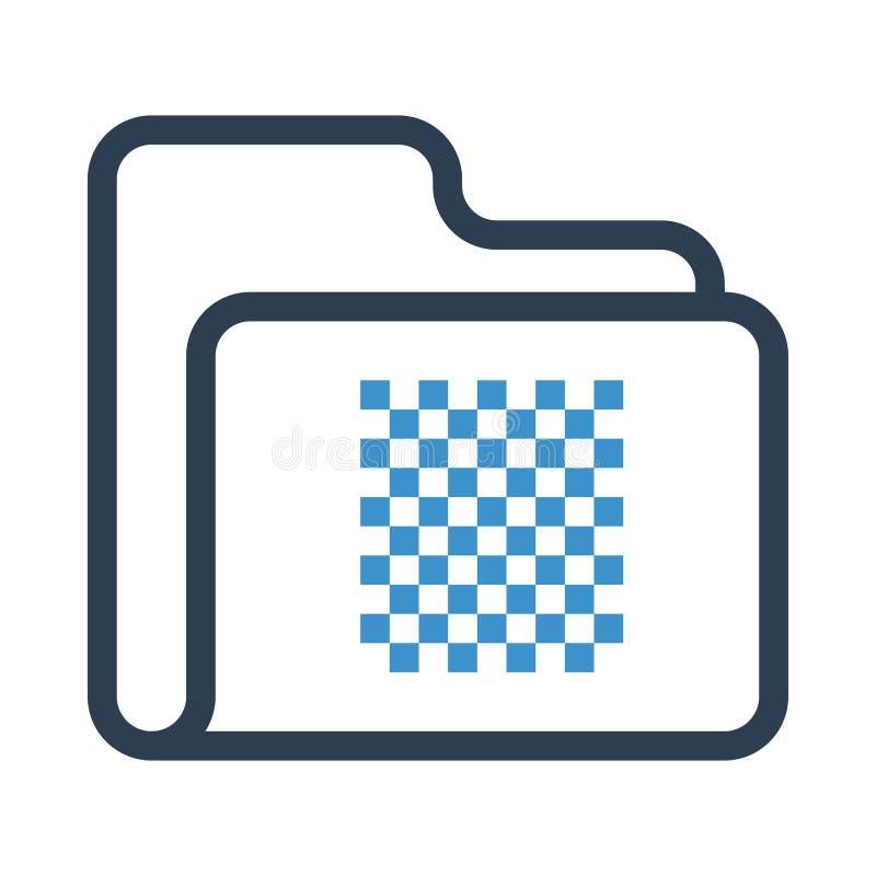 Línea de diseño gráfica icono de la carpeta stock de ilustración