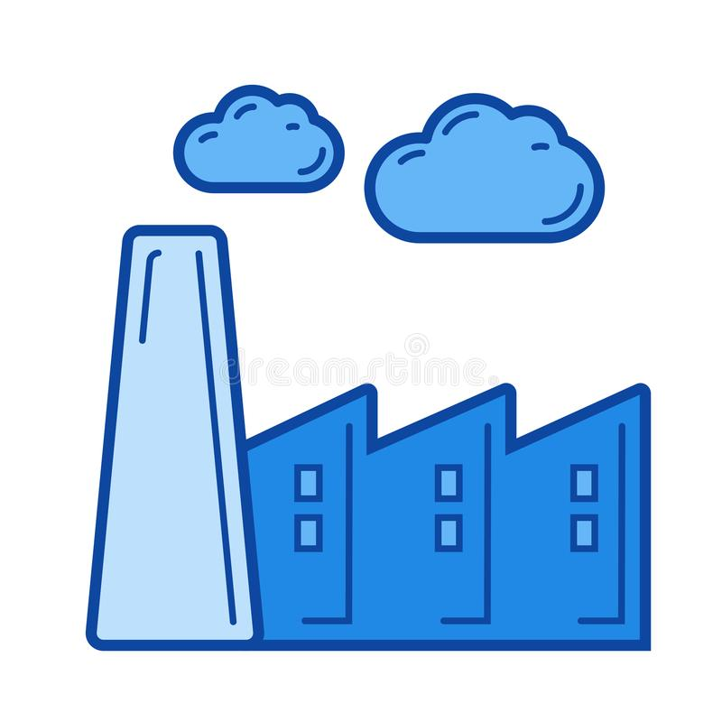 Línea de emisión de carbono icono stock de ilustración
