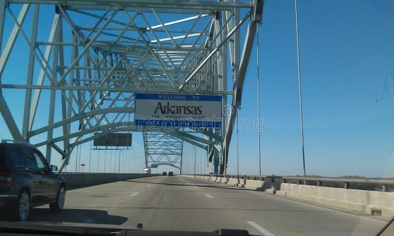 Línea de estado de Arkansas foto de archivo