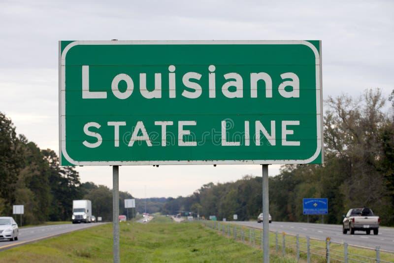 Línea de estado de Luisiana fotografía de archivo libre de regalías
