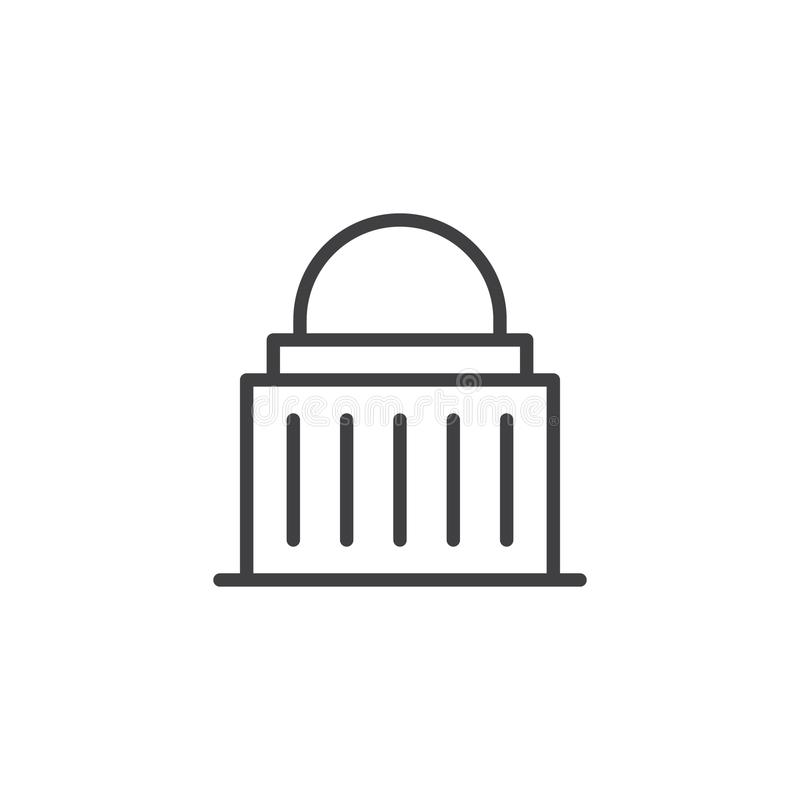 Línea de fachada del capitolio icono libre illustration